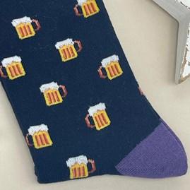 Men's Bamboo Beer Socks In Black